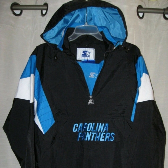 hot sale online 60e7e 9b913 Carolina Panthers Starter anorak pullover jacket M Boutique